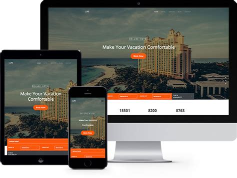 bootstrap templates for hotel website luxe free html5 bootstrap template for hotel website