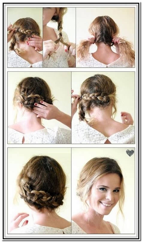 braids updo for short hairstep by step short hair braid tutorial hair style and color for woman