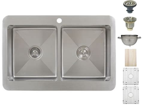 kitchen sink accessories ticor tr1800 overmount stainless steel double bowl kitchen