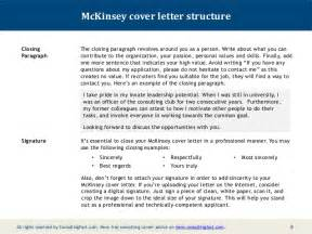 Cover Letter For Management Consulting by Mckinsey Cover Letter Sle