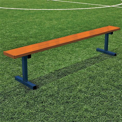 players bench locations 15 player bench w o seat back surface mount powder