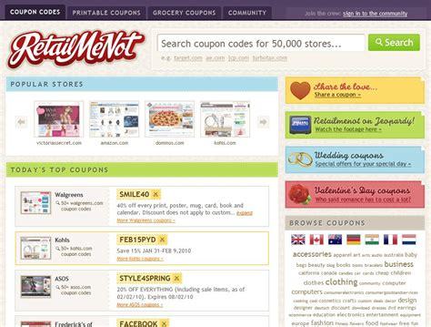 discount vouchers websites retailmenot website coupon codes