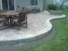 Concrete Paver Patio Designs Sted Concrete Patio Designs Colored Sted Concrete Patio With Pit Garden