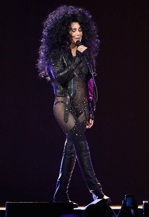 Cher Wardrobe by Cher 67 Turns Back Time As She Dons Same Sheer Leotard