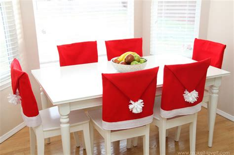 santa hat chair covers how to make santa hat chair covers sew handimania