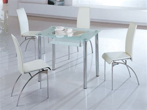 exceptional Glass Extending Dining Table Sets #4: Small-Glass-Rectangle-Dining-Table-with-White-Chairs.jpg