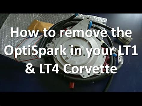 how to remove the optispark distributor on your lt1 lt4