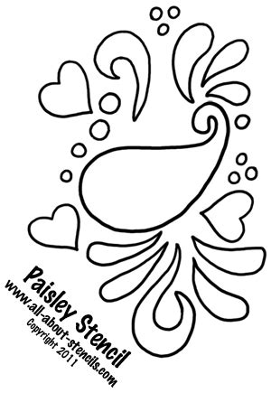 Use This Paisley Stencil In A Stencil Art Project And Find Free Stencils Paisley Stencil Templates Free
