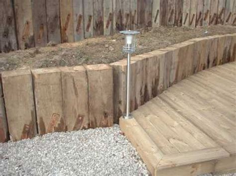 Kilgraney Railway Sleepers by Used Railway Sleeper Retaining Walls