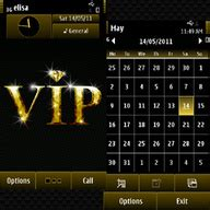 nokia vip themes vip gold free download for symbian s60 3rd and 5th edition