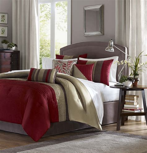 tradewinds 7 piece comforter set red comforter sets for warm and cozy bedroom decor susan