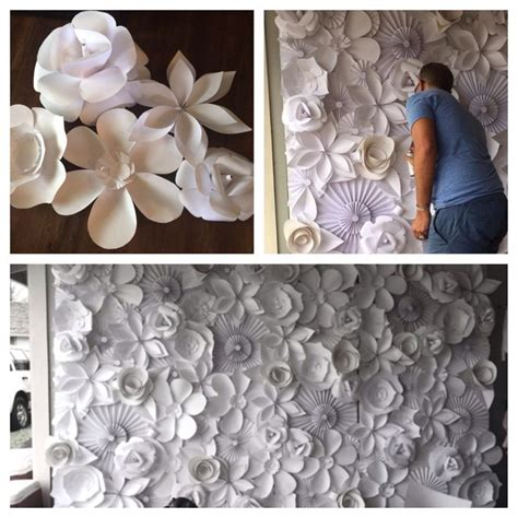Handmade Wedding Decor - paper flower wedding backdrop diy wedding decorations on