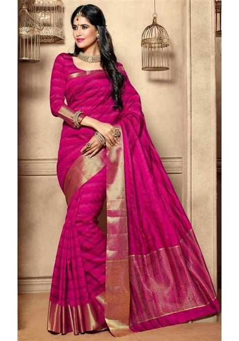 rani pink colour pink silk saree www imgkid com the image kid has it