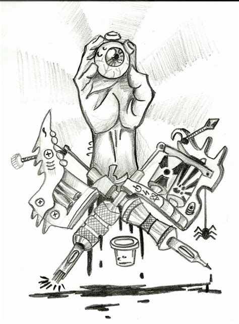 tattoo gun drawing guns by srokazlodziejka on deviantart
