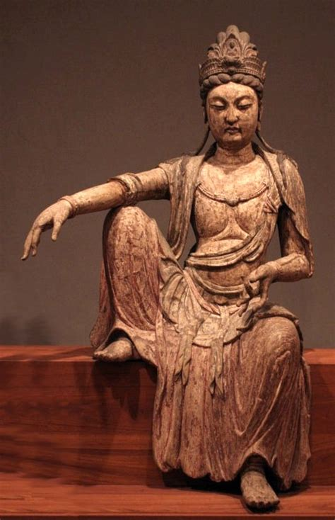 Liontin Guan Yin file kuan yan bodhisattva northern sung dynasty china c 1025 wood honolulu academy of arts