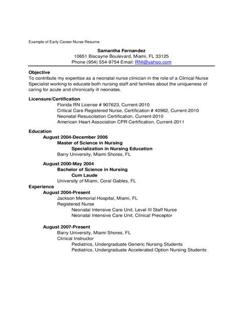 best nursing resume for new grads sales nursing lewesmr