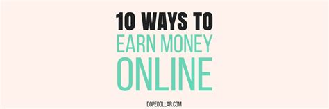 Make Money Online With Little Investment - how to earn money online with little investment costs dope dollar
