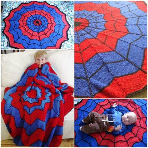 pattern spiderman free wonderful diy crochet spiderman blanket with free pattern