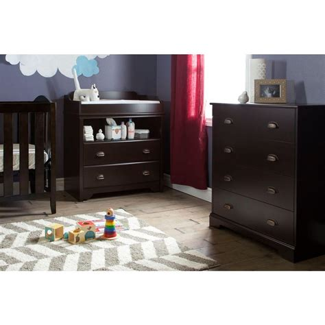 south shore changing table espresso south shore fundy tide 2 drawer espresso changing table