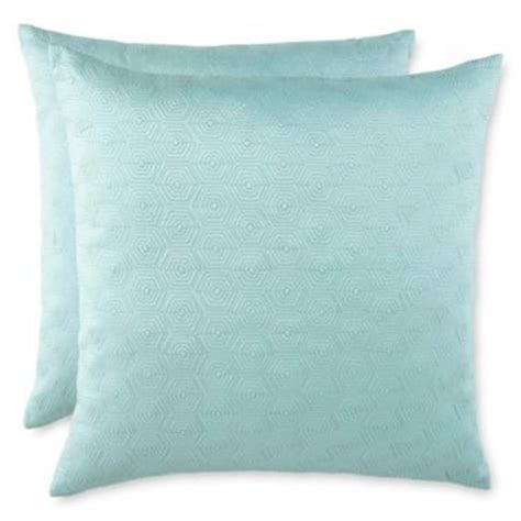 jcpenney bed pillows hexagon set of 2 decorative pillows jcpenney seafoam