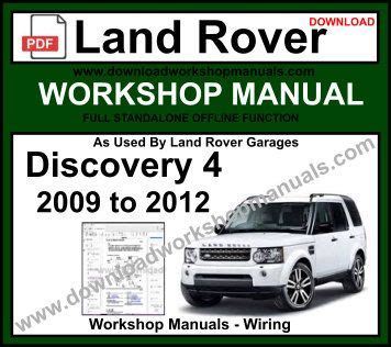 small engine service manuals 2012 land rover discovery windshield wipe control land rover discovery 4 service repair workshop manual download