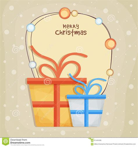 beautiful greeting card for merry stock illustration image 61445436