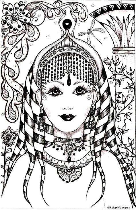 indian bride coloring page visage inspiration inde inde bollywood coloriages