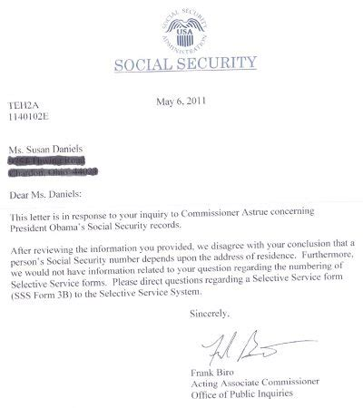 Verification Letter Social Security Ss Admin To Change Docs To Fit Obama Ss Fraud Let S Roll Forums