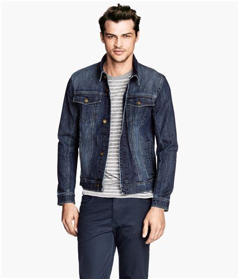 Jaket Denim H M H M Denim Jacket In Blue For Lyst