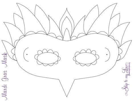 mardi gras mask templates  kids  adults