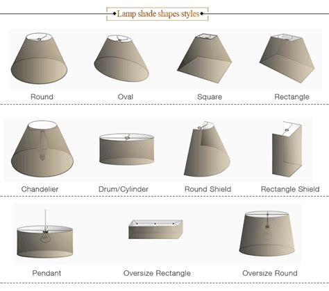 l shade shapes wholesale cheap fabric table l shade l shade of l