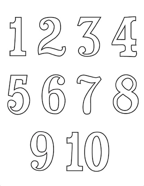 Numbers 0 20 Coloring Pages by Printing Numbers 1 10 Sheets Loving Printable
