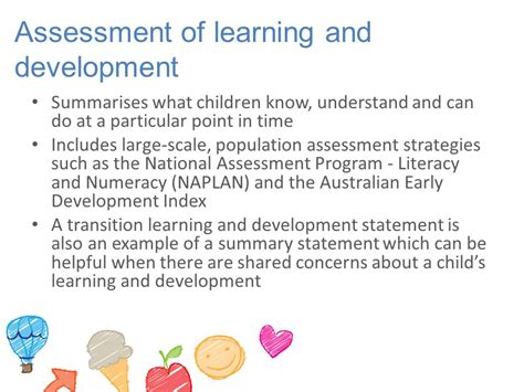 Transition And Development 7 assessment for development and learning ppt