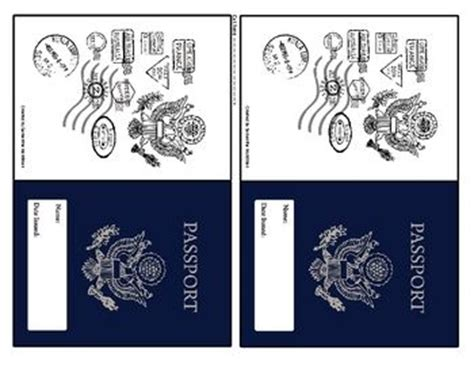 passport template for printable world passport printable 4 for the classroom social
