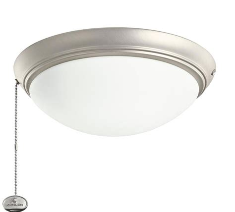 kichler 338200ni brushed nickel led ceiling fan light