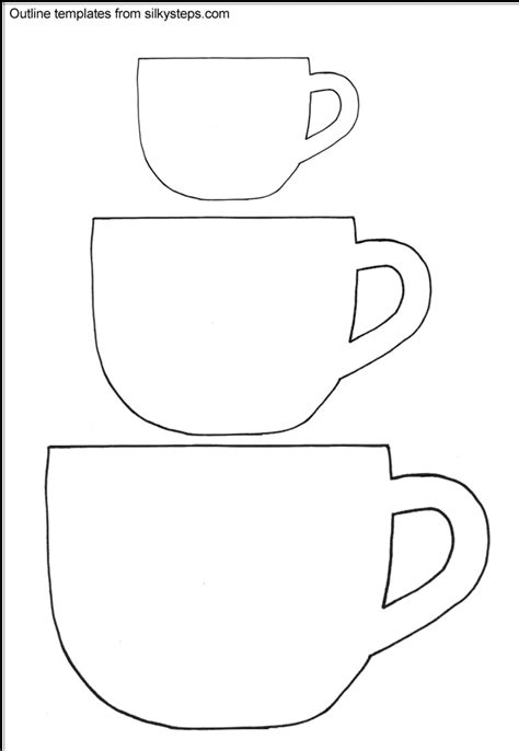 teacup card template printable teacup outline templates templets for cards