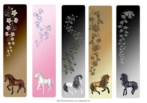 free printable horse bookmarks 5 best images of free printable unicorn bookmarks cute