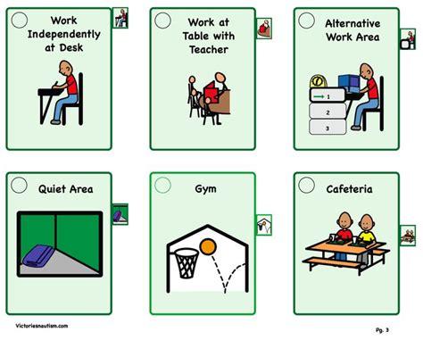 printable cue cards visual schedule cue cards behavior pinterest visual