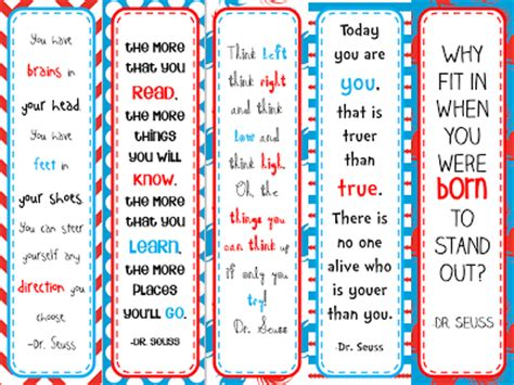 printable bookmarks dr seuss 6 best images of dr seuss coloring bookmarks printable