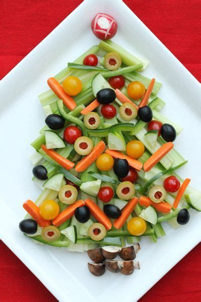 veggie and olive tree christmas appetizers pinterest