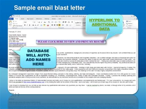 sle email blast template creating an email blast for standard presentation