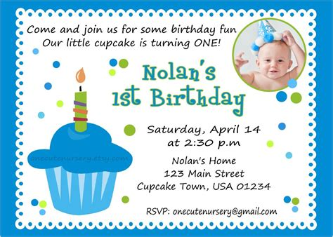 Baby Boy 1st Birthday Invitation Card Template by 7th Birthday Invitation Wording Boy Birthday Invitations