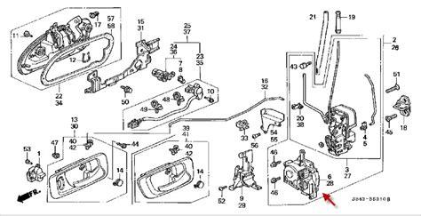 Spion Assy Honda Crv 2007 2012 Genuine 2002 Honda Accord Door Latch Diagram Honda Auto Parts