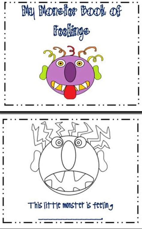 preschool printable worksheets emotions another connection to glad monster sad monster this