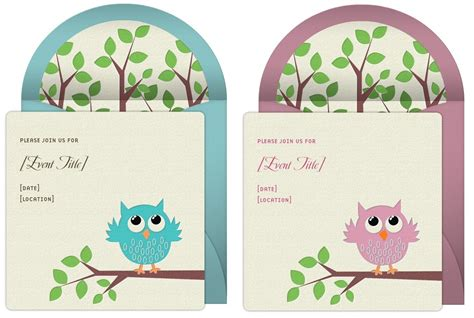 owl theme owl themed baby shower invitations dolanpedia
