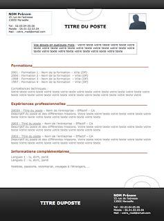 Modéles Cv by Resume Format Mod 232 Le De Cv Gratuit Menuisier