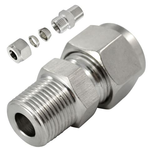pipe connectors 1 4 x 10mm ferrule pipe fittings threaded