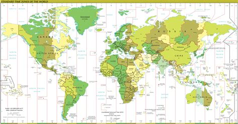 world map with cities and time zones what timezone is gci phone service