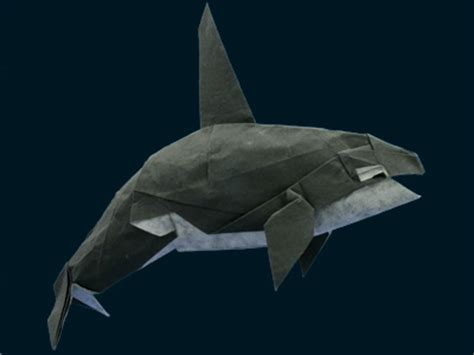 Origami Orca - paper animal farm origami animal creations pix o plenty