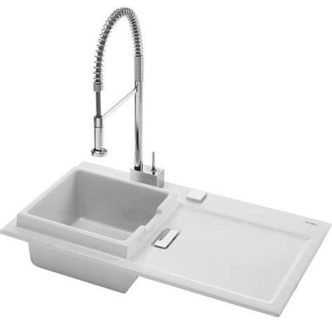 starck k flush mount kitchen sink with overflow in white